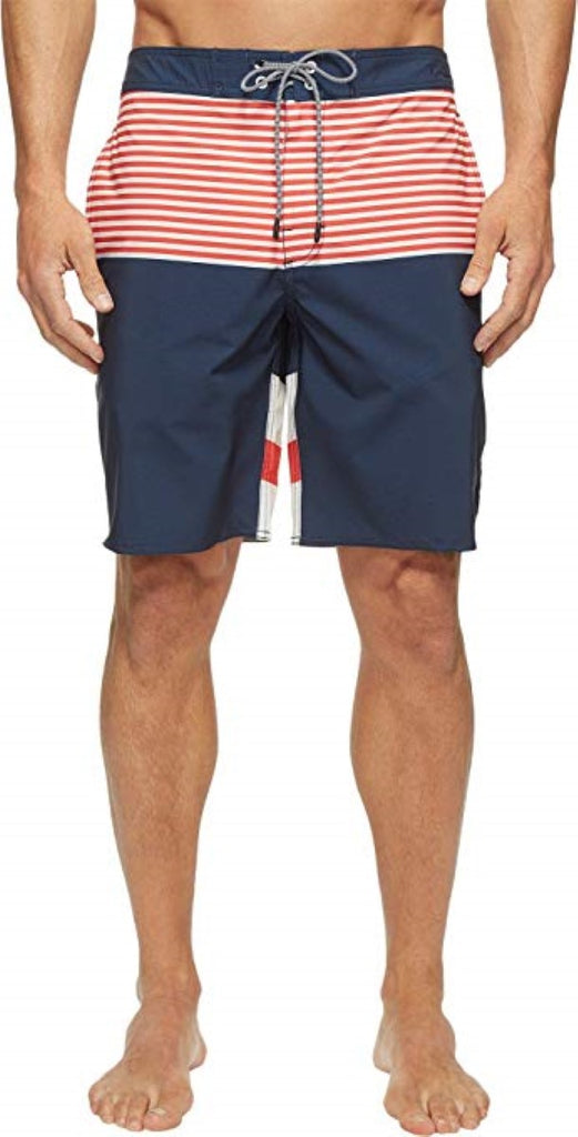 Federal Blue RVCA Mens Vice Tri Boardshorts MJ123VIC