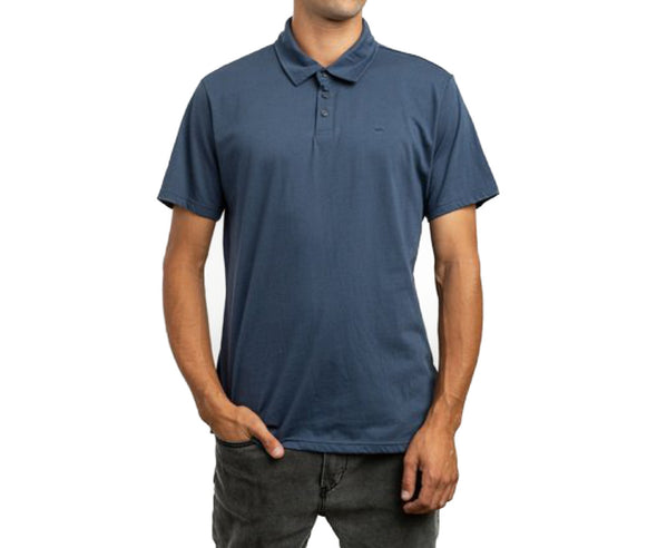 RVCA Mens Sure Thing II Polo Shirt MJ922SUR - The Smooth Shop