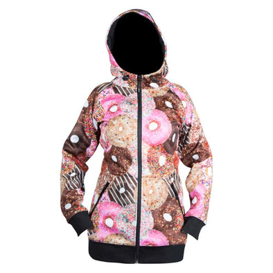 Neff Womens Frost Shredder Hoodie 15F66001, Donut, SR - The Smooth Shop