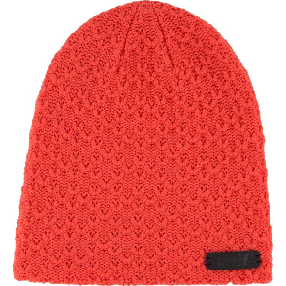 Neff Womens Grams Cozy Textured Beanie 15F05013, Coral, OS - The Smooth Shop
