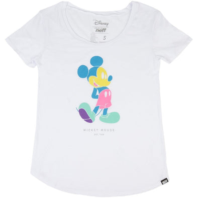 Neff Womens Pastel Mickey Tee R16FT30PM - The Smooth Shop