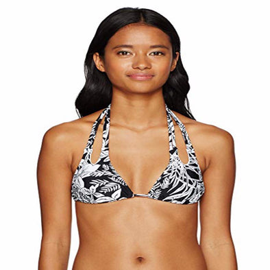Volcom Women's Branch Out Triangle Bikini Top, Black, XS - The Smooth Shop