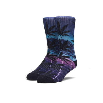 Huf Mens Plantlife Digital Airbrush Sock SK00224, Blue, OFA - The Smooth Shop