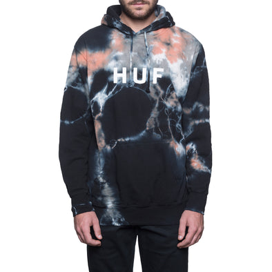 Huf Mens OG Logo Crystal Wash Pullover Hoodie PF00067 - The Smooth Shop