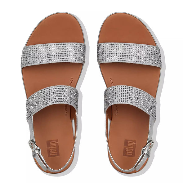 FitFlop Womens Barra Crystalled Back Strap Sandals - The Smooth Shop