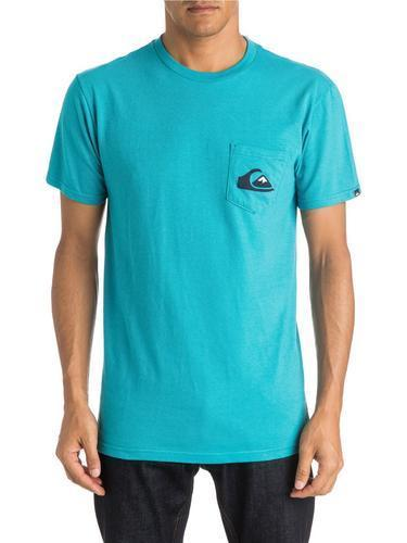 Quiksilver Mens Everyday Logo Pocket Short Sleeve T-Shirt AQYZT03815 - The Smooth Shop