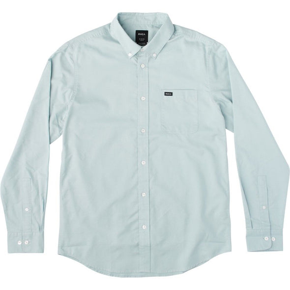 RVCA Mens That'll Do Oxford Long Sleeve Shirt M3515TDL - The Smooth Shop