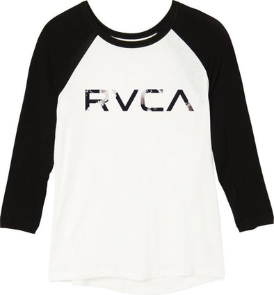 RVCA Womens Faded Floral RVCA Raglan W314G00F - The Smooth Shop