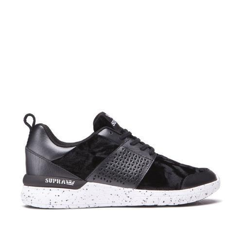 Supra Womens Scissor Shoes 98027, Black/White, 7 - The Smooth Shop