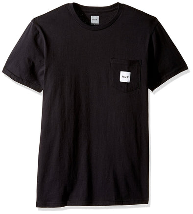Huf Mens Box Logo Pocket T-Shirt TSBSC1112, Black, XXL - The Smooth Shop