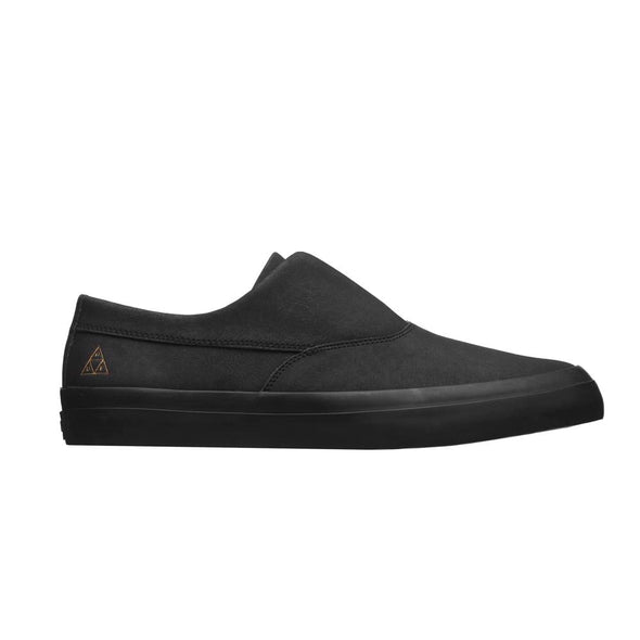 Huf Mens Dylan Slip On Shoes VC00014, Black, 12 - The Smooth Shop