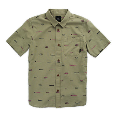 Vans Boys Yusuke Loggin Short Sleeve Woven Shirt - The Smooth Shop