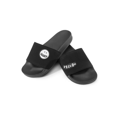 Volcom Womens Don't Trip Slides Sandals, Black, 8 - The Smooth Shop