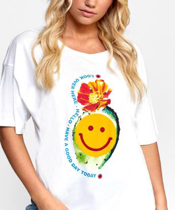 RVCA Womens Happy Cactus Boyfriend T-Shirt - The Smooth Shop