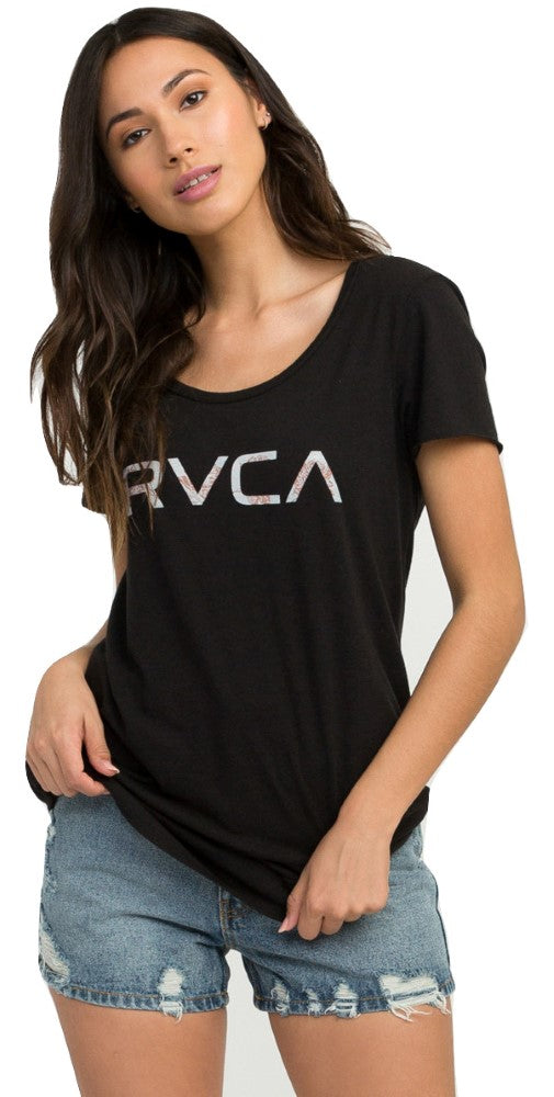 RVCA Womens Big RVCA Fill T-Shirt W417PRBI - The Smooth Shop
