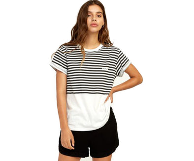 RVCA Womens House Stripe T-Shirt - The Smooth Shop