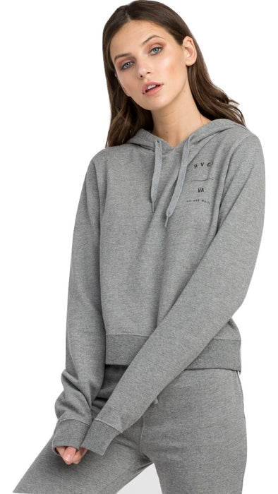 RVCA Womens Splits Cropped Hoodie W601MRSP - The Smooth Shop