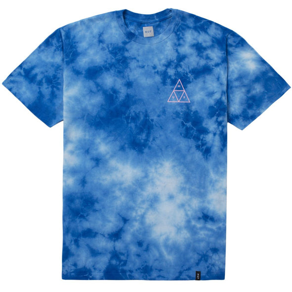 Huf Mens Washed Triple Triangle T-Shirt TS00113, Blue, XXL - The Smooth Shop