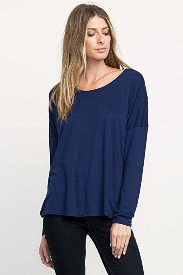 RVCA Womens Sutherland Top WG902SUT,Ink,L - The Smooth Shop