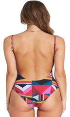 Billabong Womens Burn Wild One Piece Swimsuit, Multi, S - The Smooth Shop
