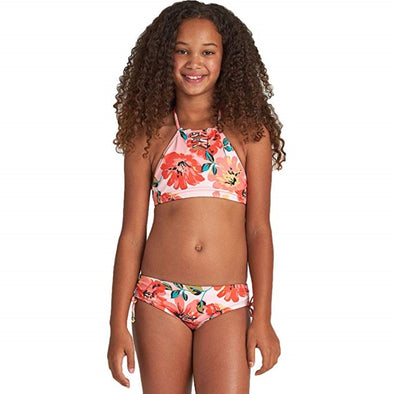 Billabong Girls Beach Bliss Hi Neck Two Piece Swim Set - The Smooth Shop