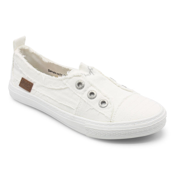 Blowfish Malibu Womens Aussie Sneakers, White Smoked 16Oz Canvas, 11 - The Smooth Shop