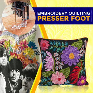 Free Motion Embroidery Quilting Foot Presser