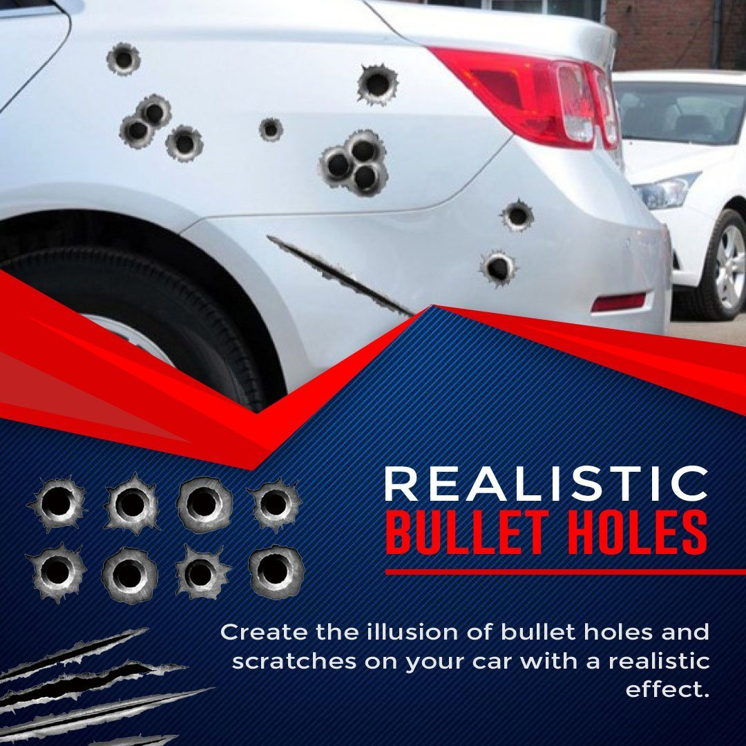 3D Bullet Hole Stickers