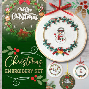 Christmas Embroidery Set