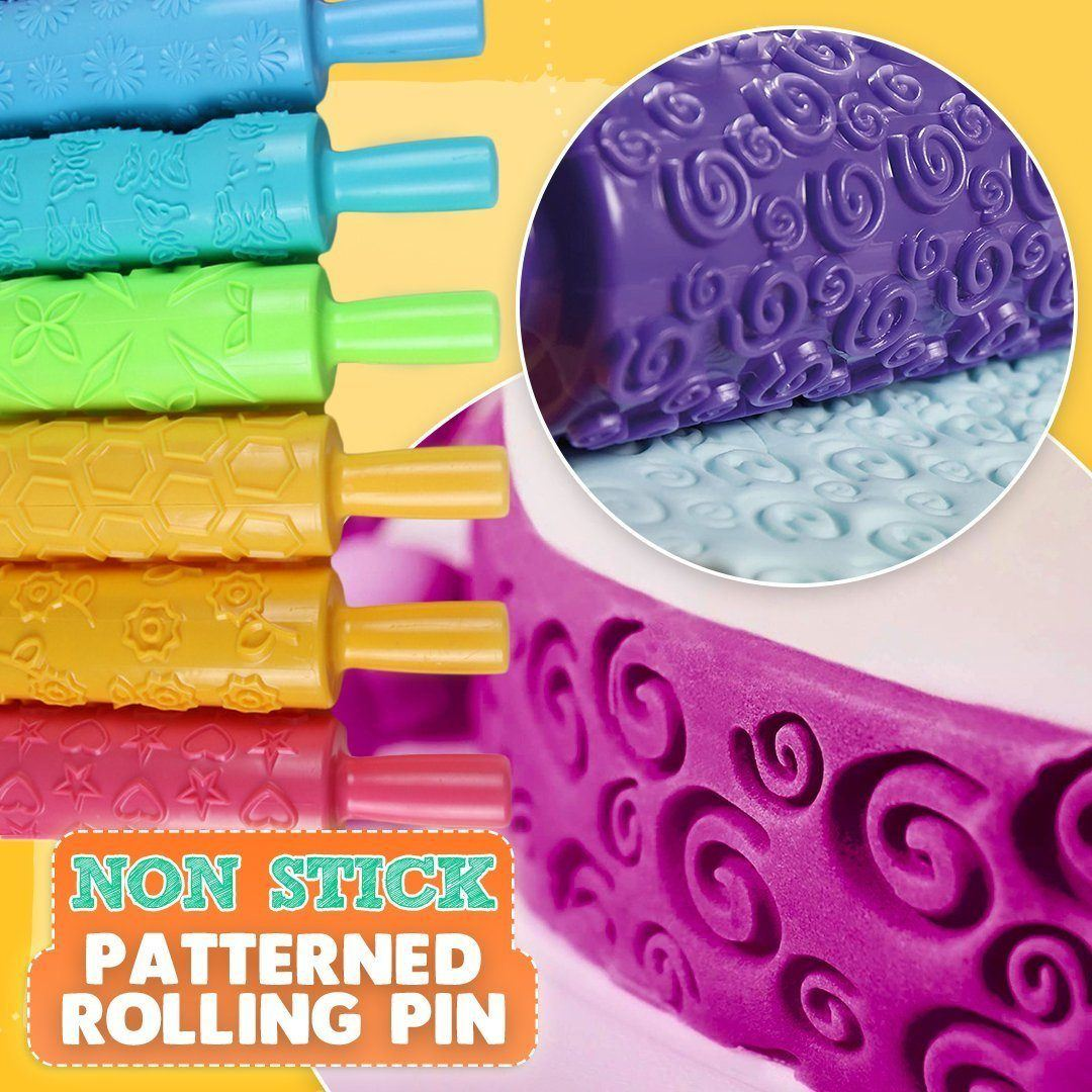 Non-Stick Patterned Rolling Pin