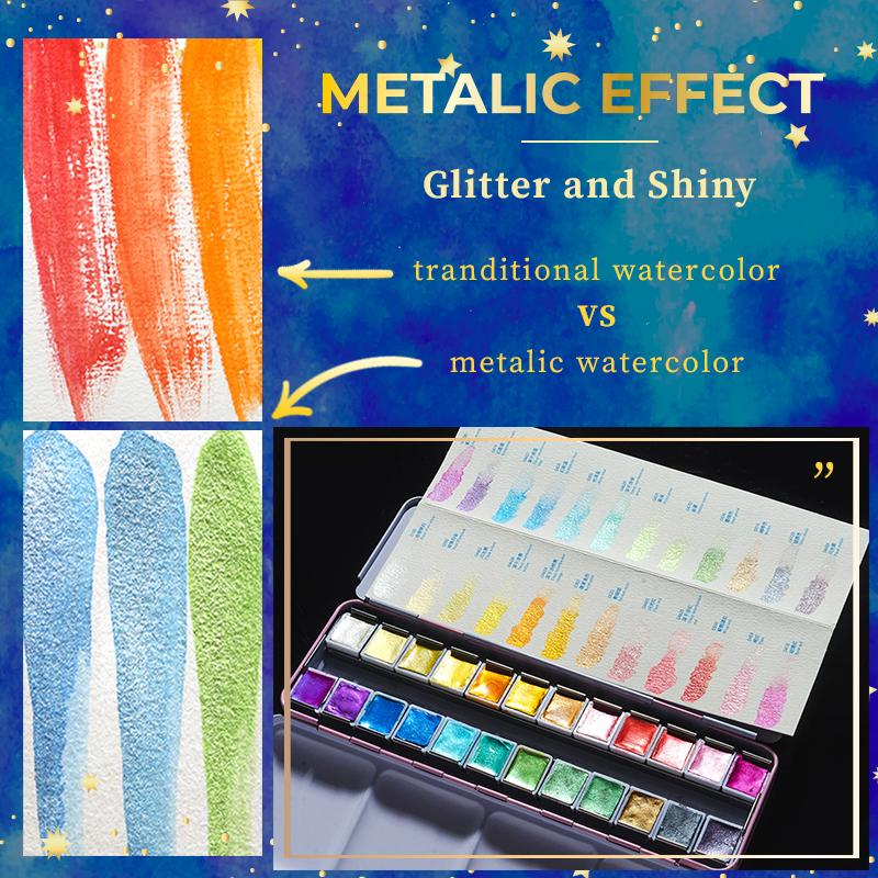 Metallic Watercolor Kit Set