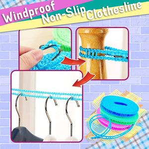 Windproof Non-Slip Clothesline (2pcs)
