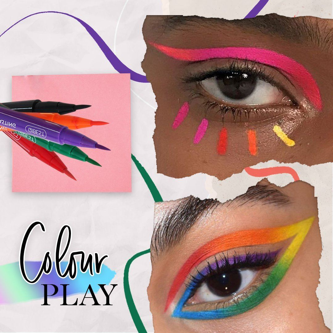 12-Color Waterproof Eyeliner Pen