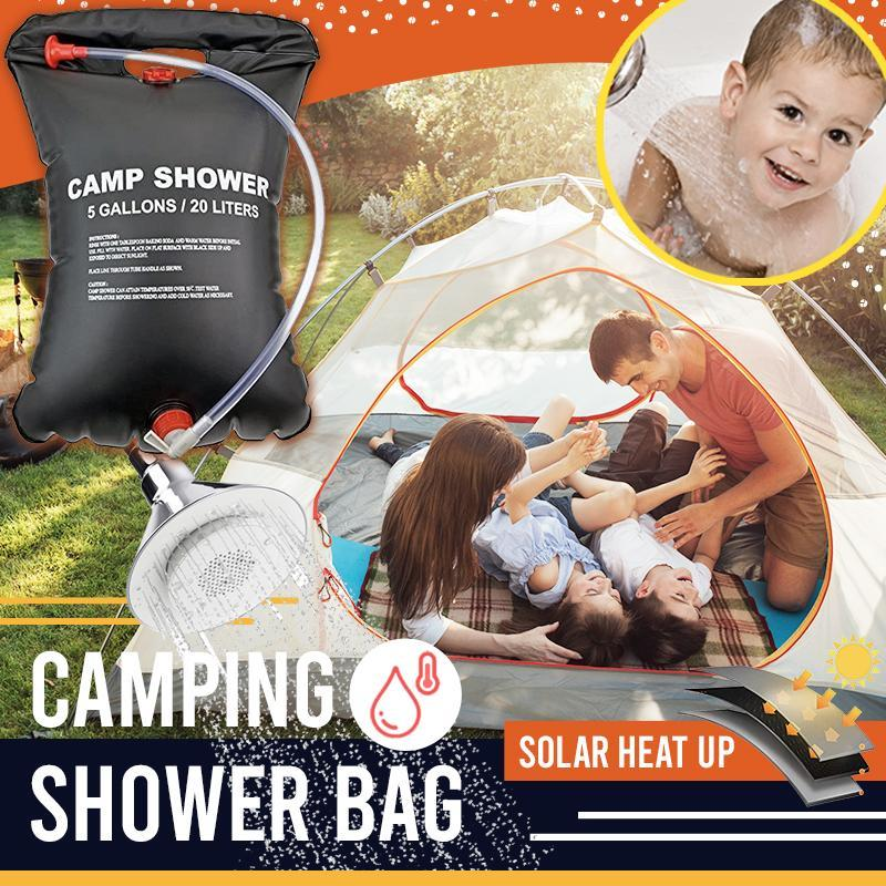 Solar-Heating Camping Shower Bag