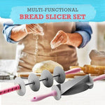 Multi-functional Bread Slicer Set (Blade Roller & Croissant Cutter)