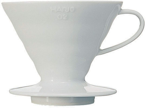 Hario Ceramic Coffee Dripper, Size 02, White