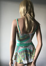 Load image into Gallery viewer, One Piece Fitted Bust Swimsuit with Skirt