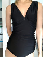 Load image into Gallery viewer, Flattering Zip Front One Piece Swimsuit