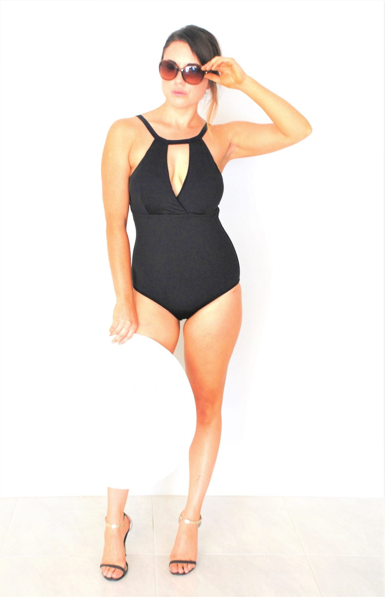 Glamorous One Piece swimsuit with Cut Out Neck