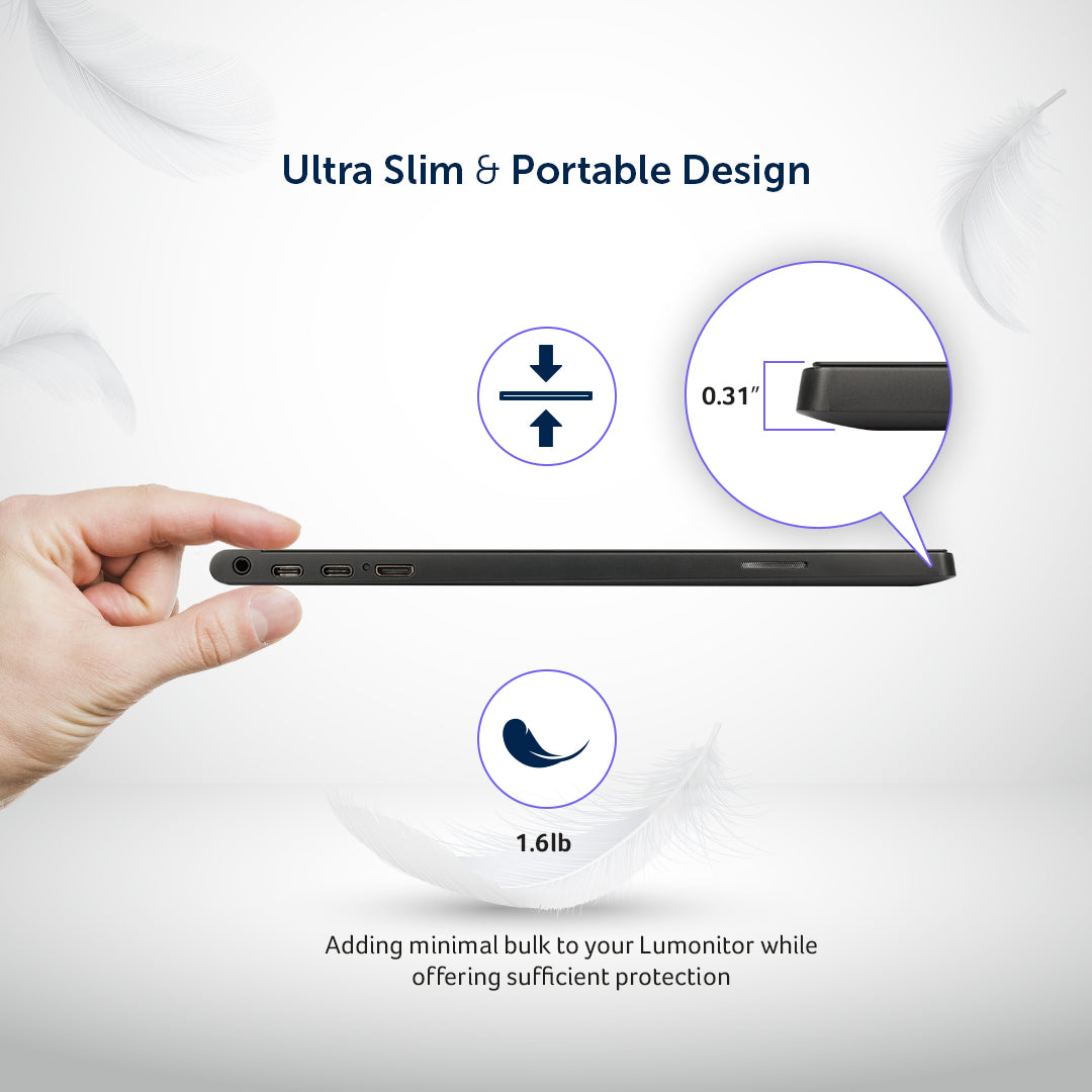 Lumonitor Foldable Magnetic Stand + Cover 1