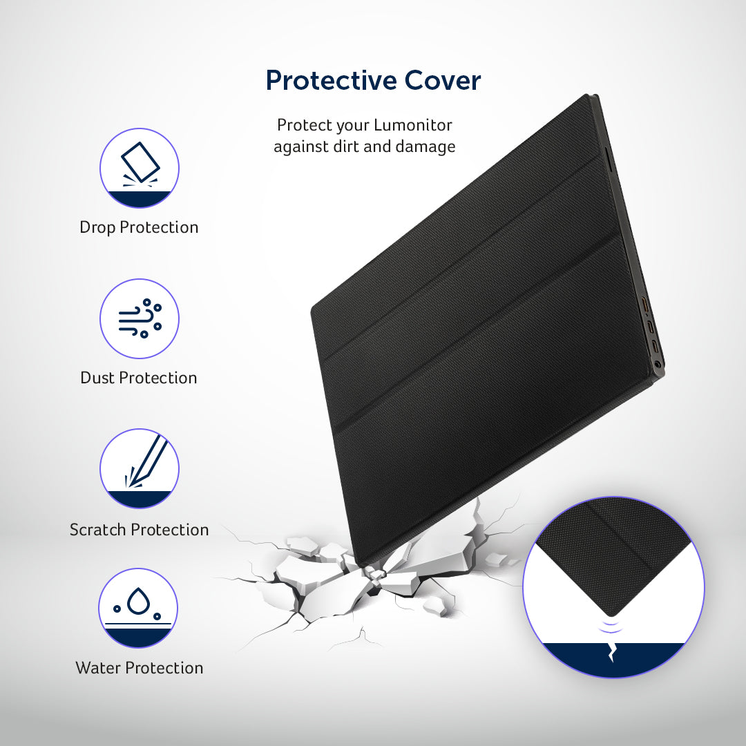 Lumonitor Foldable Magnetic Stand + Cover 2