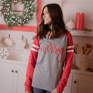 MERRY SPORTY RED - CHRISTMAS TEE