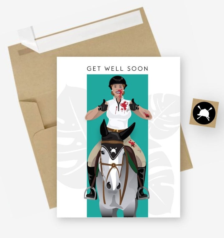 Hunt Seat Paper Co. Get Well Soon - Rider's Tack.Apparel.Supply