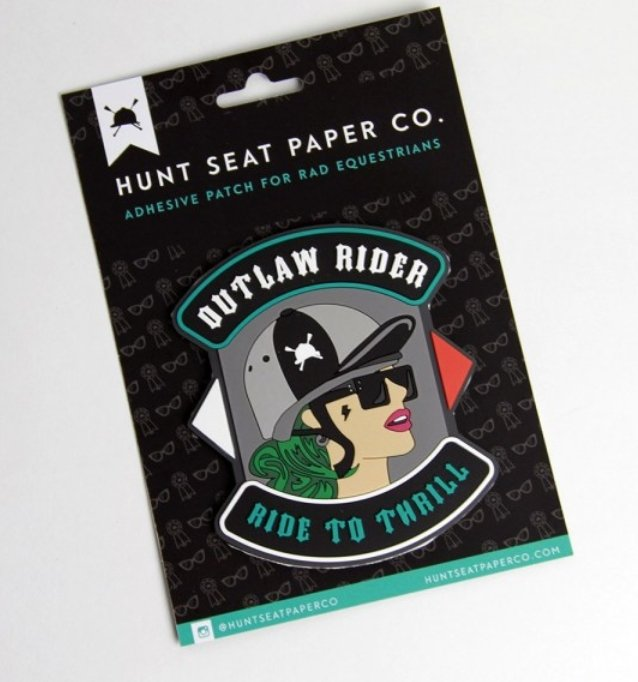 Hunt Seat Paper Co. Outlaw Rider Patch - Rider's Tack.Apparel.Supply