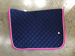 Ogilvy Jump Pony BP- Navy/white piping/hot pink binding - Rider's Tack.Apparel.Supply