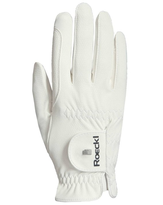Roeckl Grip Gloves White - Rider's Tack.Apparel.Supply
