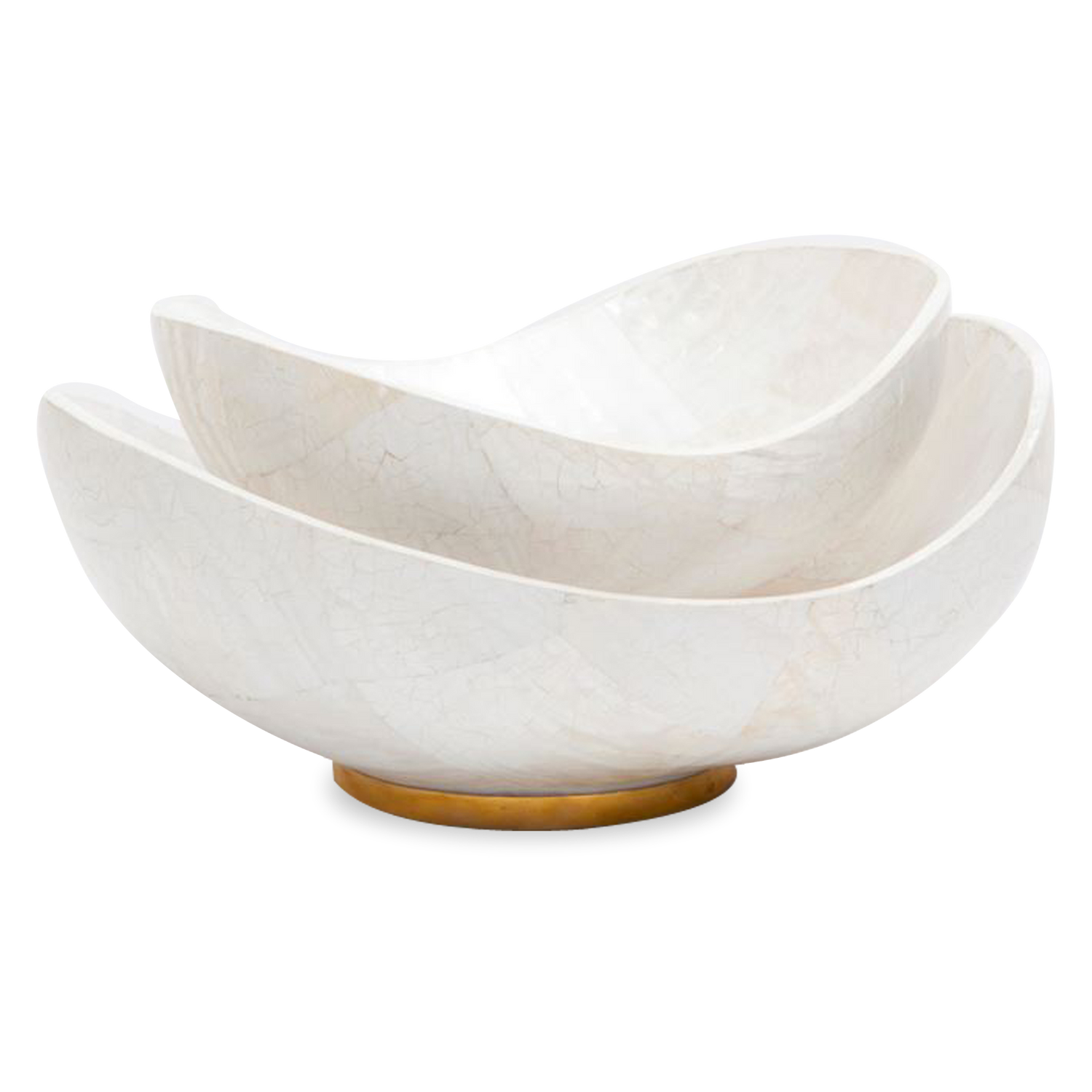 Shell Bowls With Gold Base