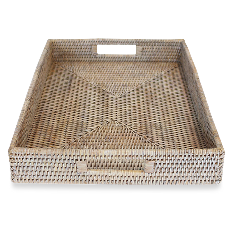 Tamiko Large Tray With Handles - Light