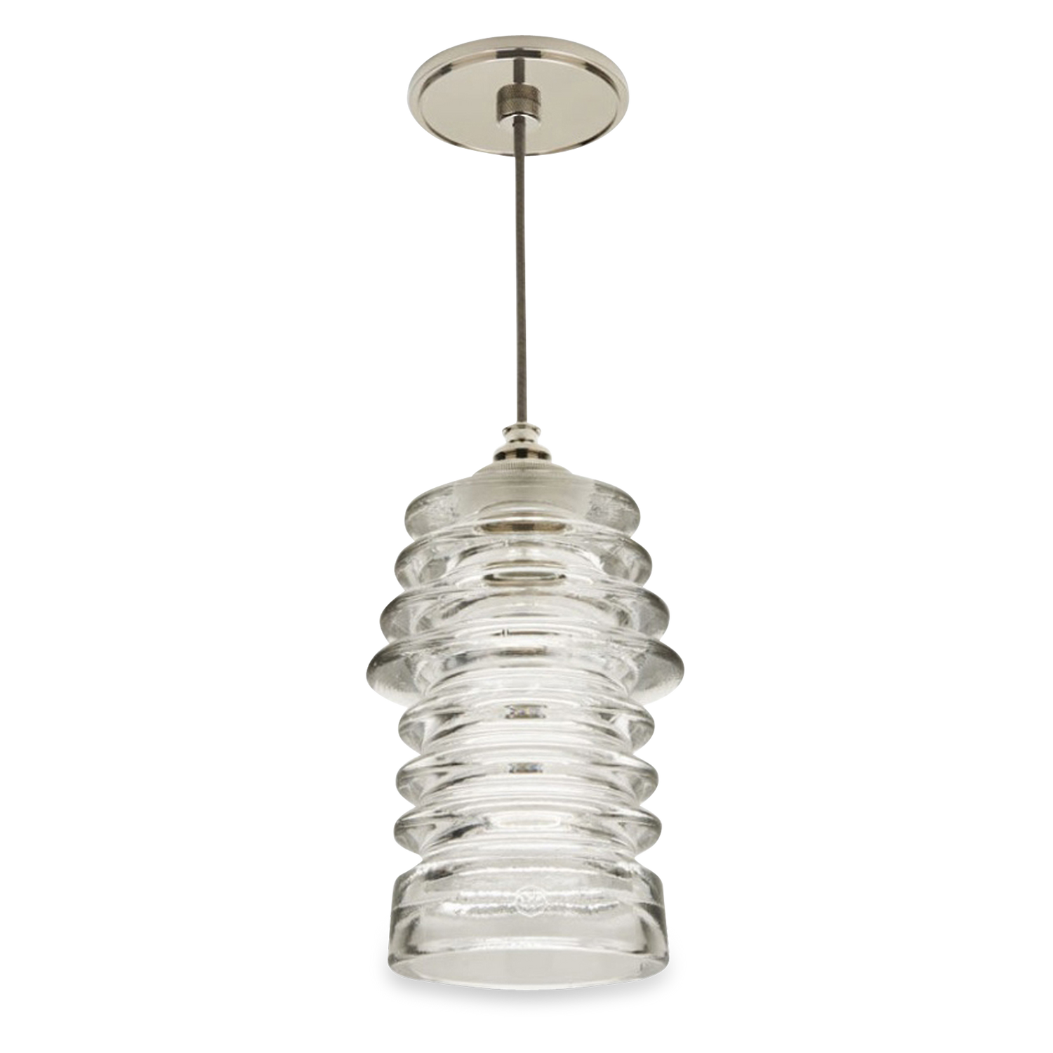 Waterworks Watt Ceiling Light - Ribbed Clear Glass