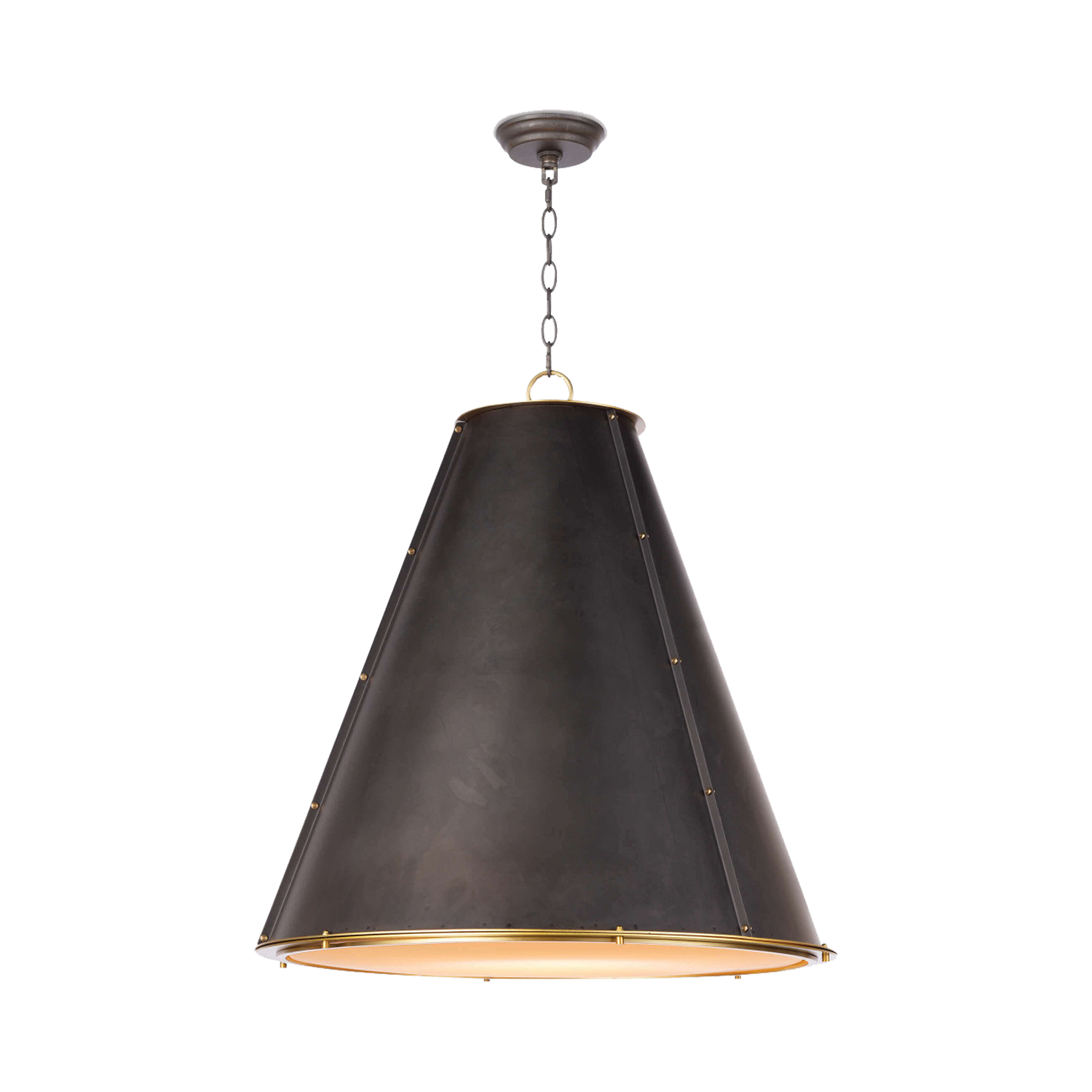 Riveted Cone Pendant Light